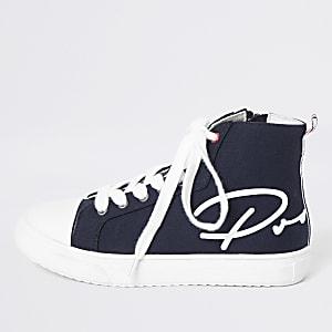 Prolific - Marineblauwe hoge sneakers voor jongens