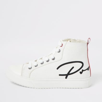 Boys white Prolific high top trainers