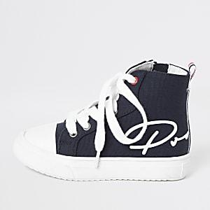 Mini - Marineblauwe hoge 'Prolific' sneakers voor jongens
