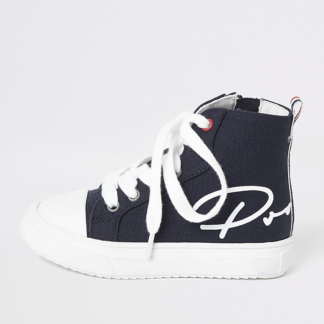 Prolific - Marineblauwe hoge sneakers voor mini-jongens