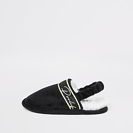 Mini boys black Prolific mule slippers