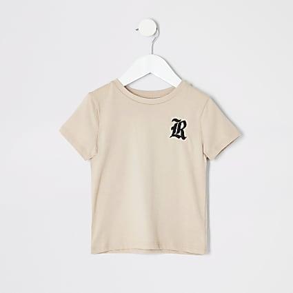 Mini boys stone R embroidered T-shirt