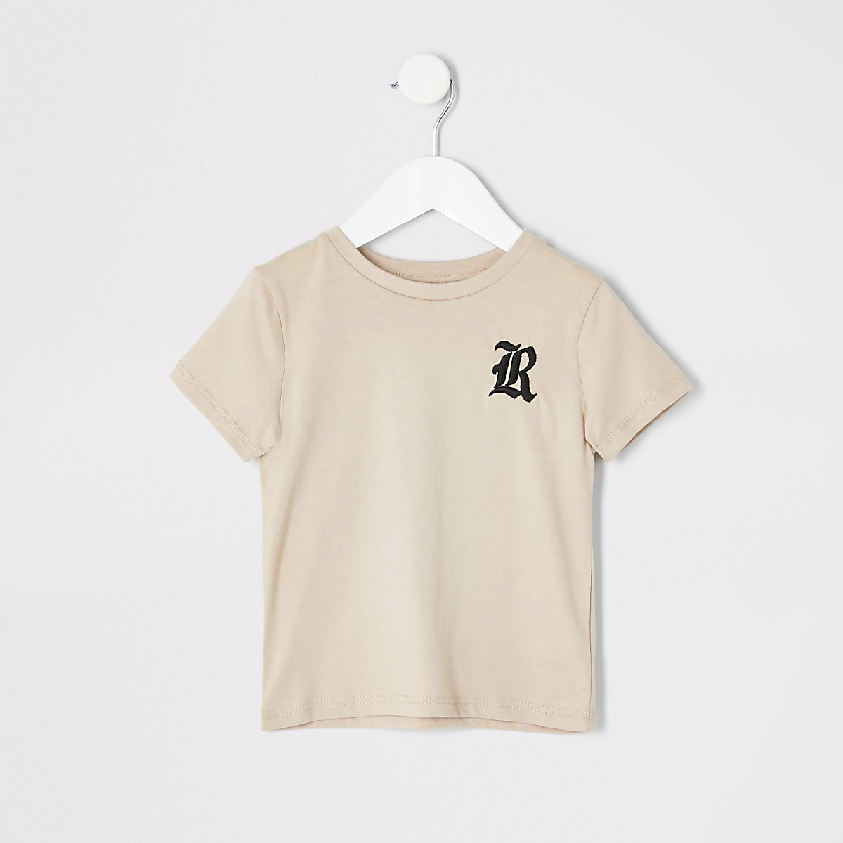 Mini boys stone R embroidered T-shirt
