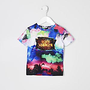 T-shirt imprimé tempête «Born awesome» mini garçon