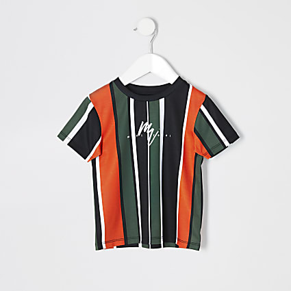 Mini boys orange stripe T-shirt