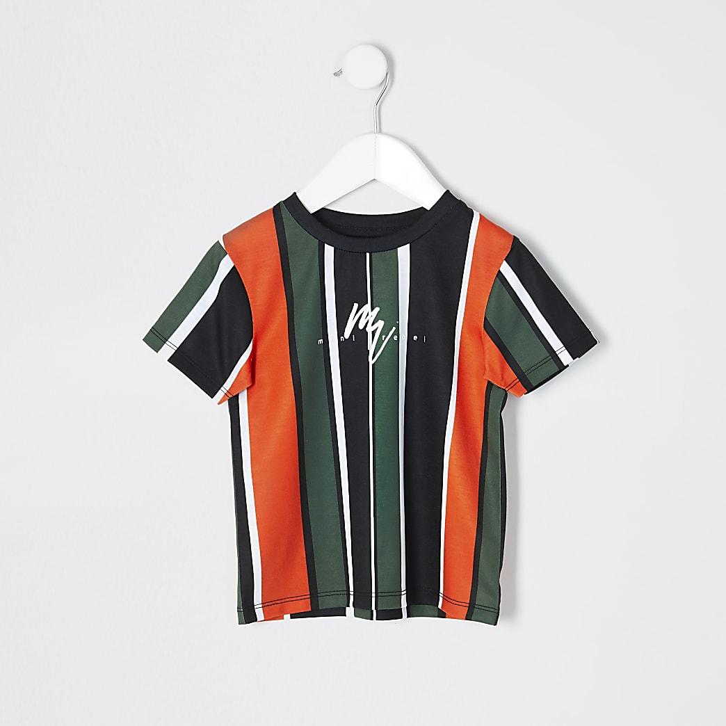 Mini boys orange stripe T-shirt