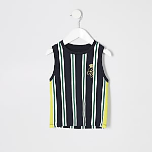 Mini boys navy RI stripe tank