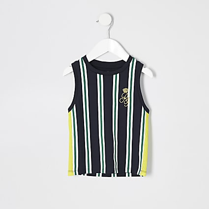 Mini boys navy RI stripe vest