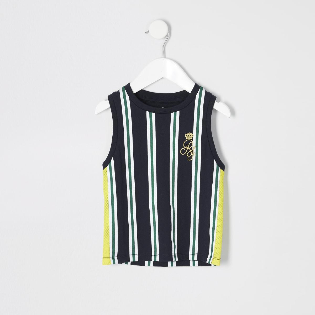 Mini boys navy RI stripe vest