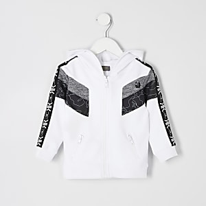 Mini boys white RI Active tape hoodie