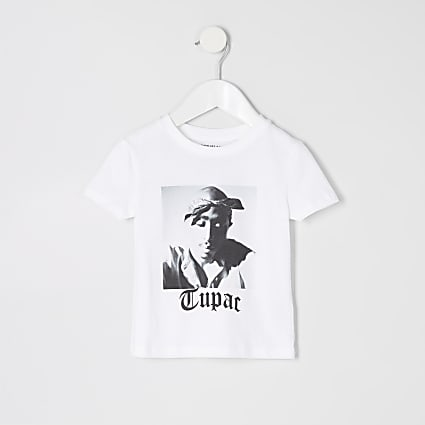Mini boys white Tupac T-shirt