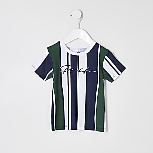 Mini boys navy stripe 'Prolific' T-shirt