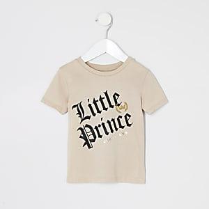 T-shirt «Little Prince» grège mini garçon