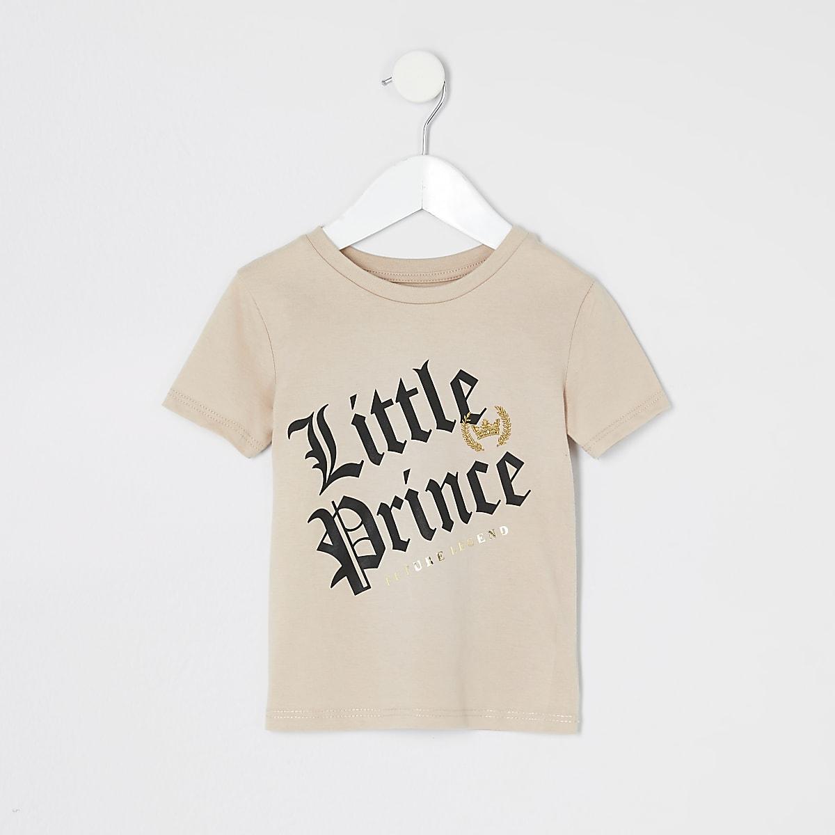 Mini boys stone 'Little Prince' T-shirt