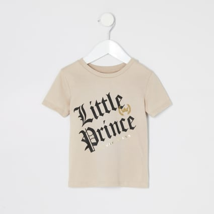 Mini boys stone 'Little Prince' T-shirt