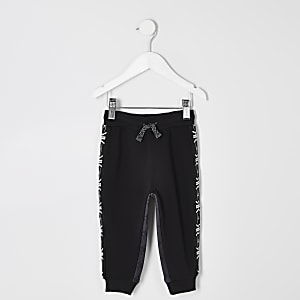 Mini boys RI Active black tape joggers