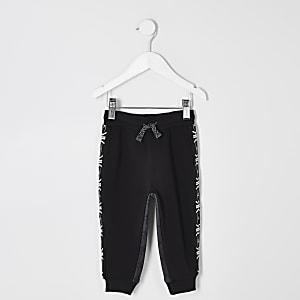 RI Active – Pantalon de jogging noir à bandes mini garçon