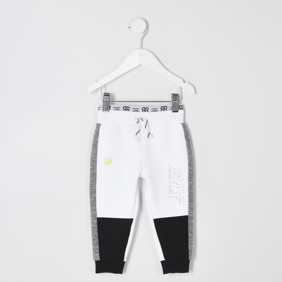 Boys RI Active white tape  joggers