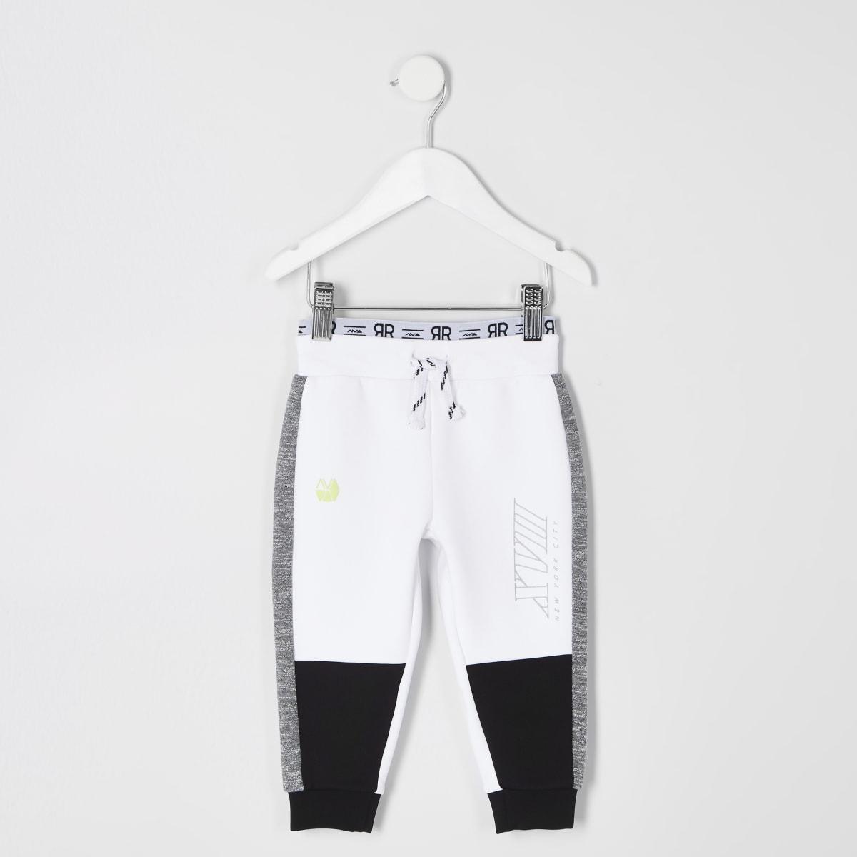 RI Active – Weiße Jogginghose mit seitlichen Streifen