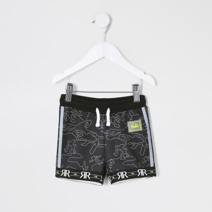 Mini boys black RI Active camo Shorts