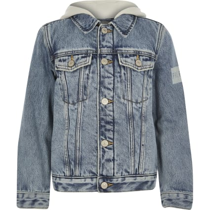 Boys Blue Prolific borg lined denim jacket