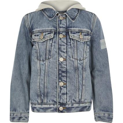 Boys Blue Prolific borg lined denim jacket