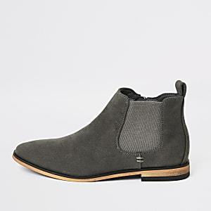 Graue, elegante Chelsea-Stiefel für Jungen