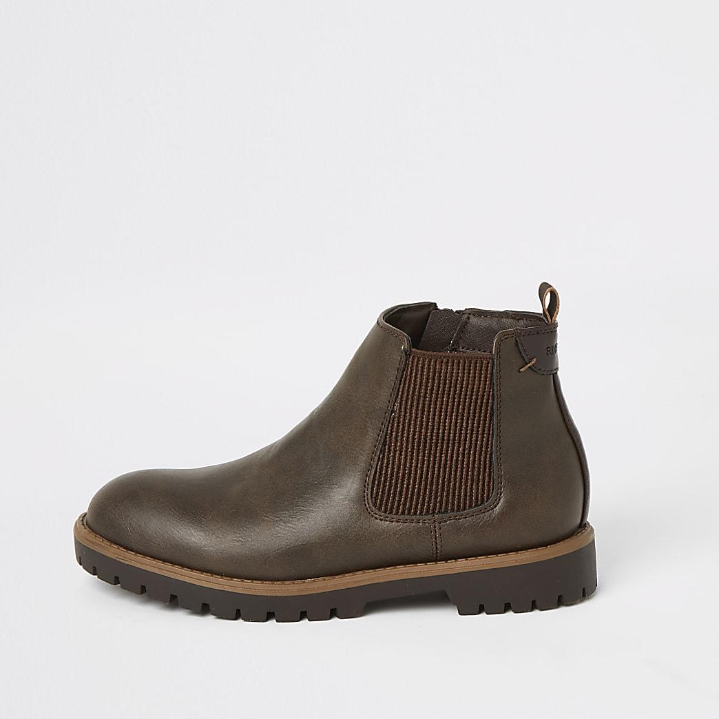 Boys dark brown Chelsea boots