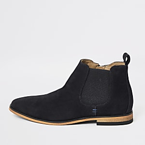 Girls navy smart chelsea boot