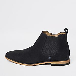 Marineblaue, elegante Chelsea-Stiefel für Jungen