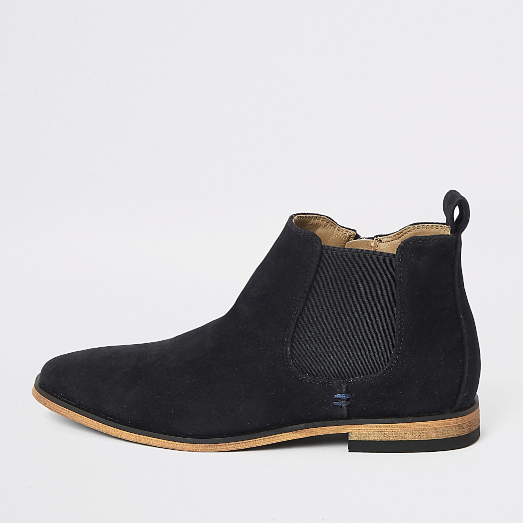 Boys navy smart chelsea boot