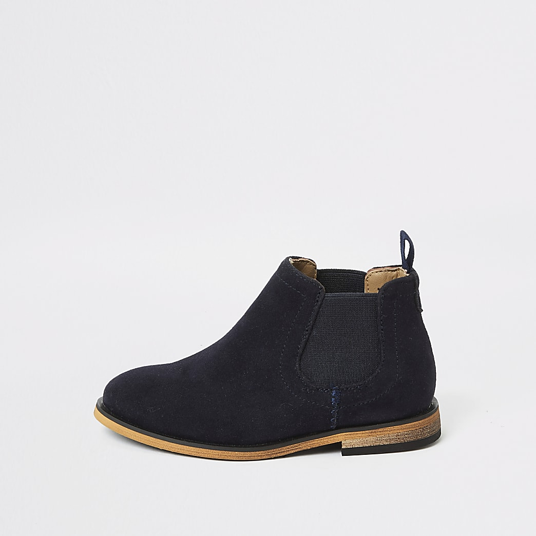 Mini boys navy smart Chelsea boots