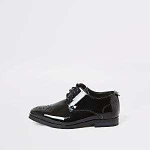Chaussures pointues noir verni Mini garçon