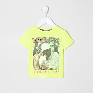 Mini - Geel T-shirt met 'Brooklyn's finest'-print voor jongens