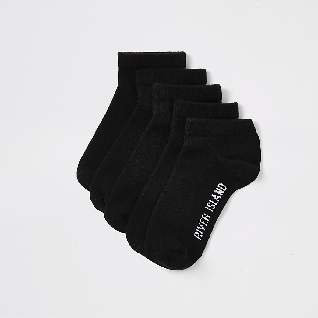 Boys black trainer sock multipack