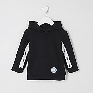 Mini – Schwarzer Hoodie mit RVR-Streifen für Jungen