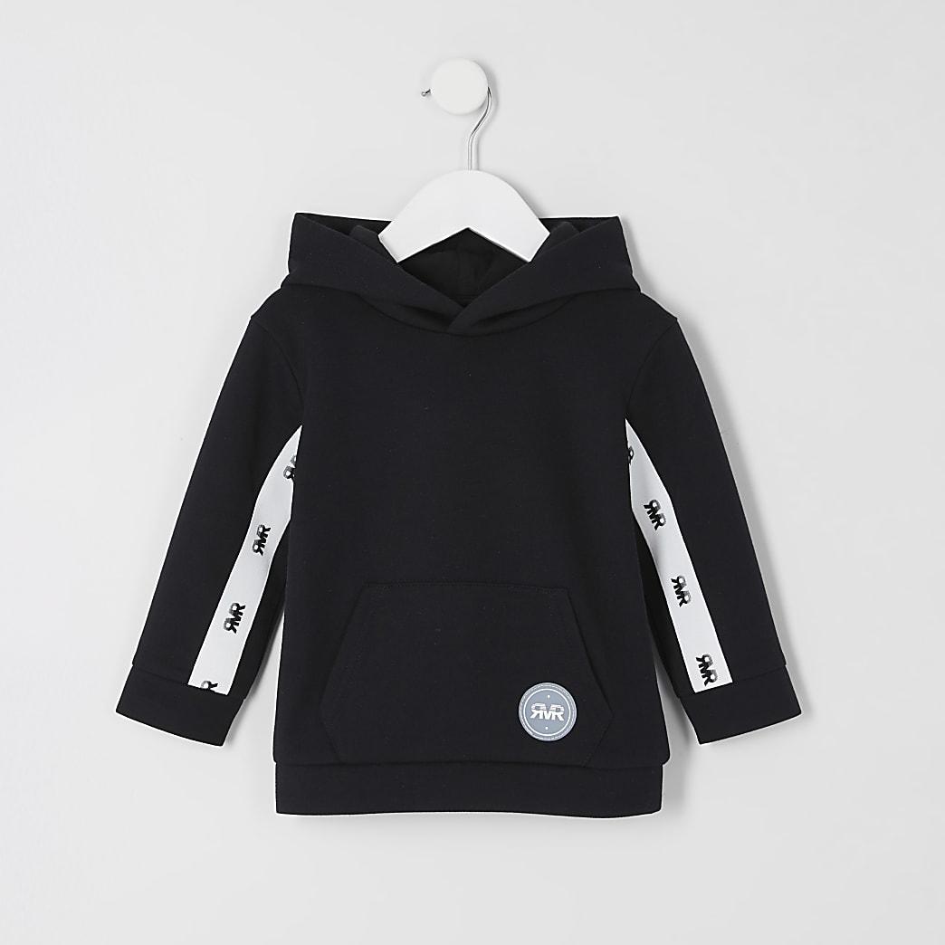 Mini boys black RVR tape hoodie