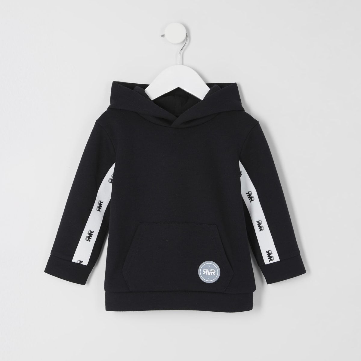 Mini boys black RVR tape hoodie