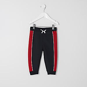 Pantalon de jogging bleu marine à empiècements mini garçon