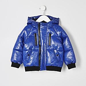 Mini garçon – Prolific– Doudoune bleue avec bandes latérales