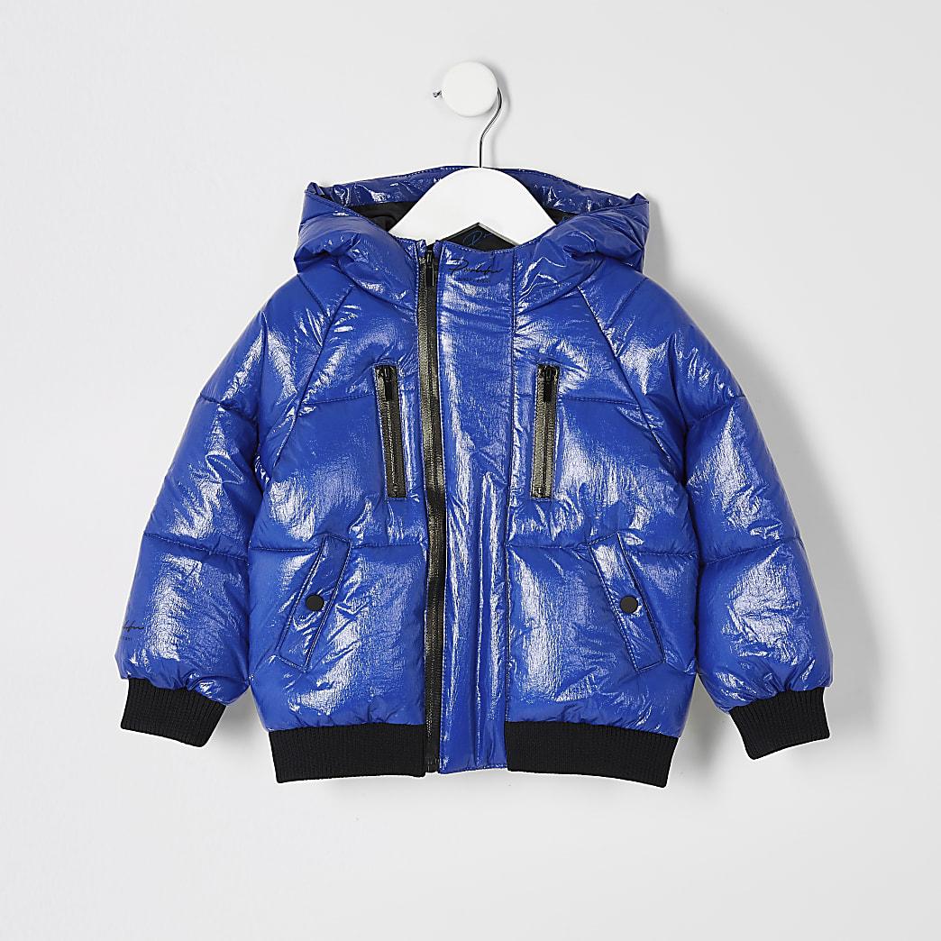 Mini boys blue Prolific tape padded jacket
