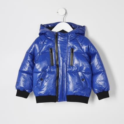 Mini boys blue Prolific tape padded jacket