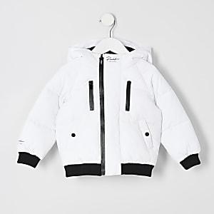 Prolific - Witte gewatteerde jas voor mini-jongens