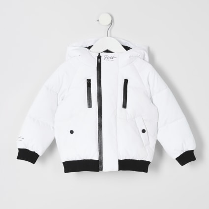Mini boys white Prolific padded jacket