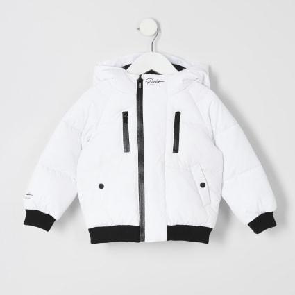 Mini boys white Prolific padded jacket