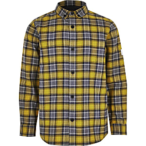 Geel geruit overhemd met lange mouwen voor jongens