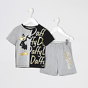 Pyjama-Set Daffy Duck in Grau für kleine Jungen