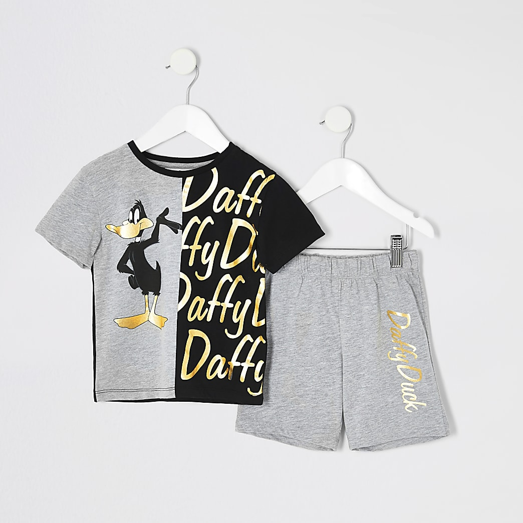 Mini boys grey Daffy Duck pyjama set