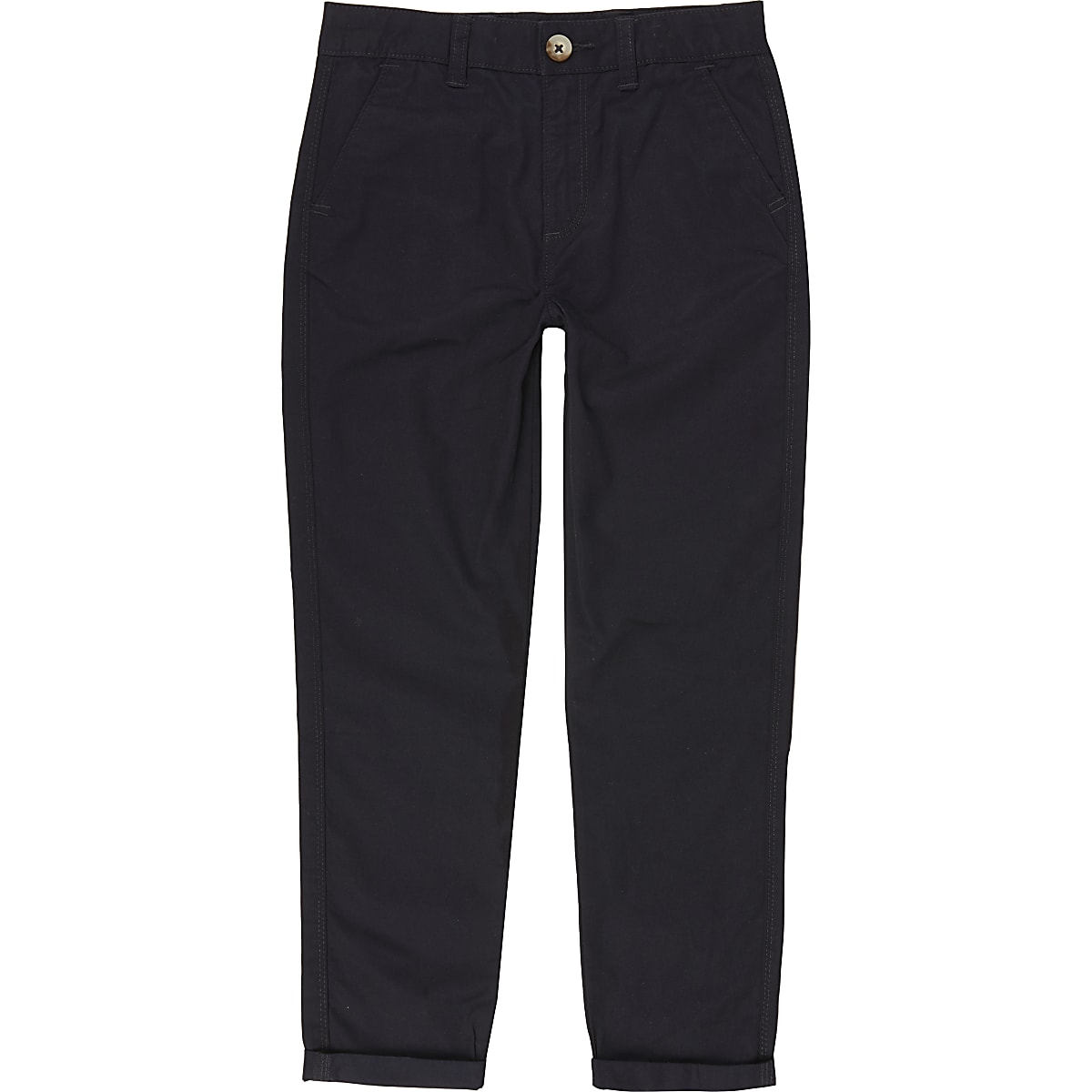 Boys navy chino trousers