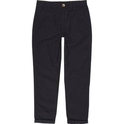 Boys navy chino trousers